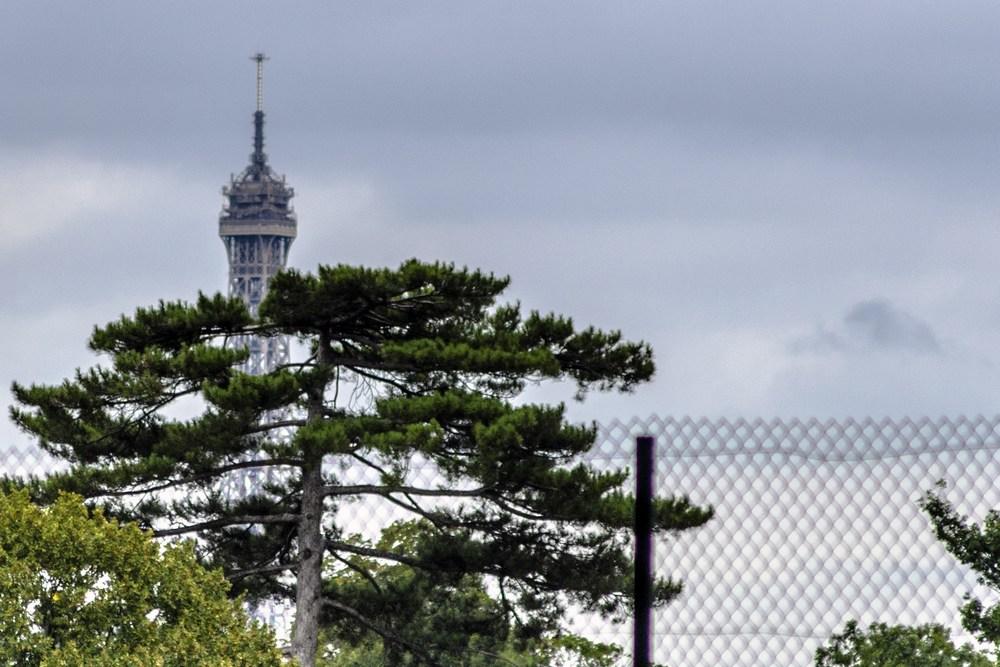 Vista della Tour Eiffel dal Camping Indigo Paris