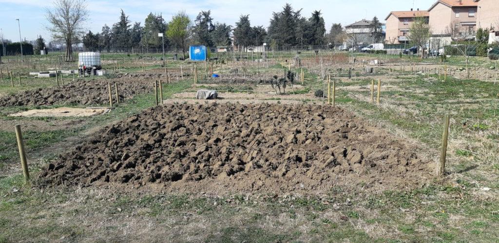 Il nostro orto dopo la vangatura